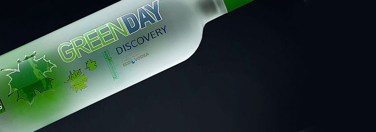 Vodka GREEN DAY DISCOVERY design.